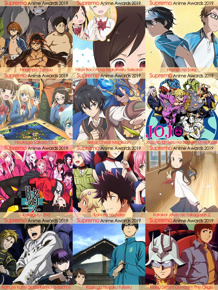 Eliminatorias Nominados a Mejor Anime Shonen 2019