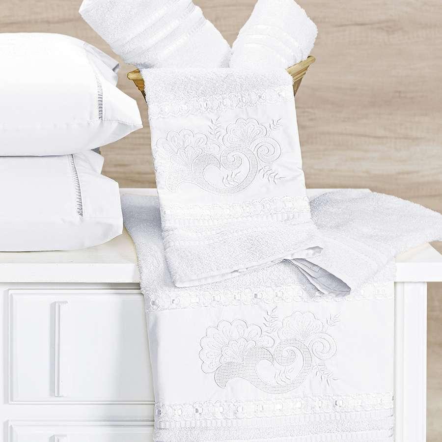 Jogo de Banho Topazio 5 Peças Branco