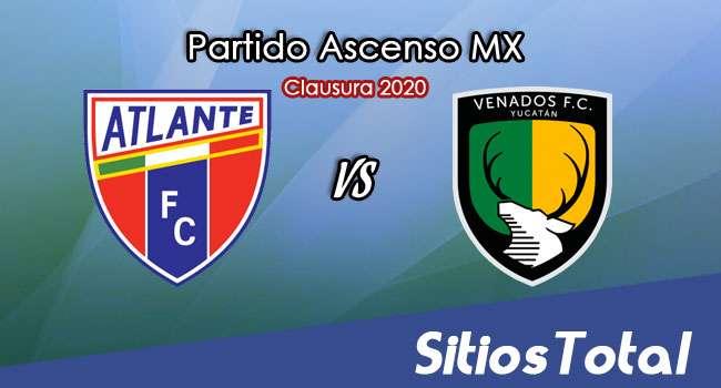 Ver Atlante vs Venados en Vivo – Ascenso MX en su Torneo de Clausura 2020