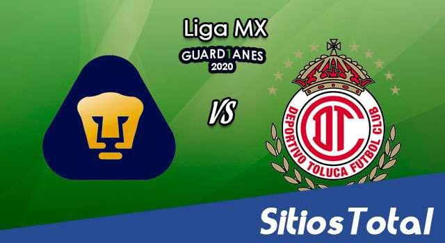 Pumas vs Toluca en Vivo – Liga MX – Guardianes 2020 – Domingo 18 de Octubre del 2020