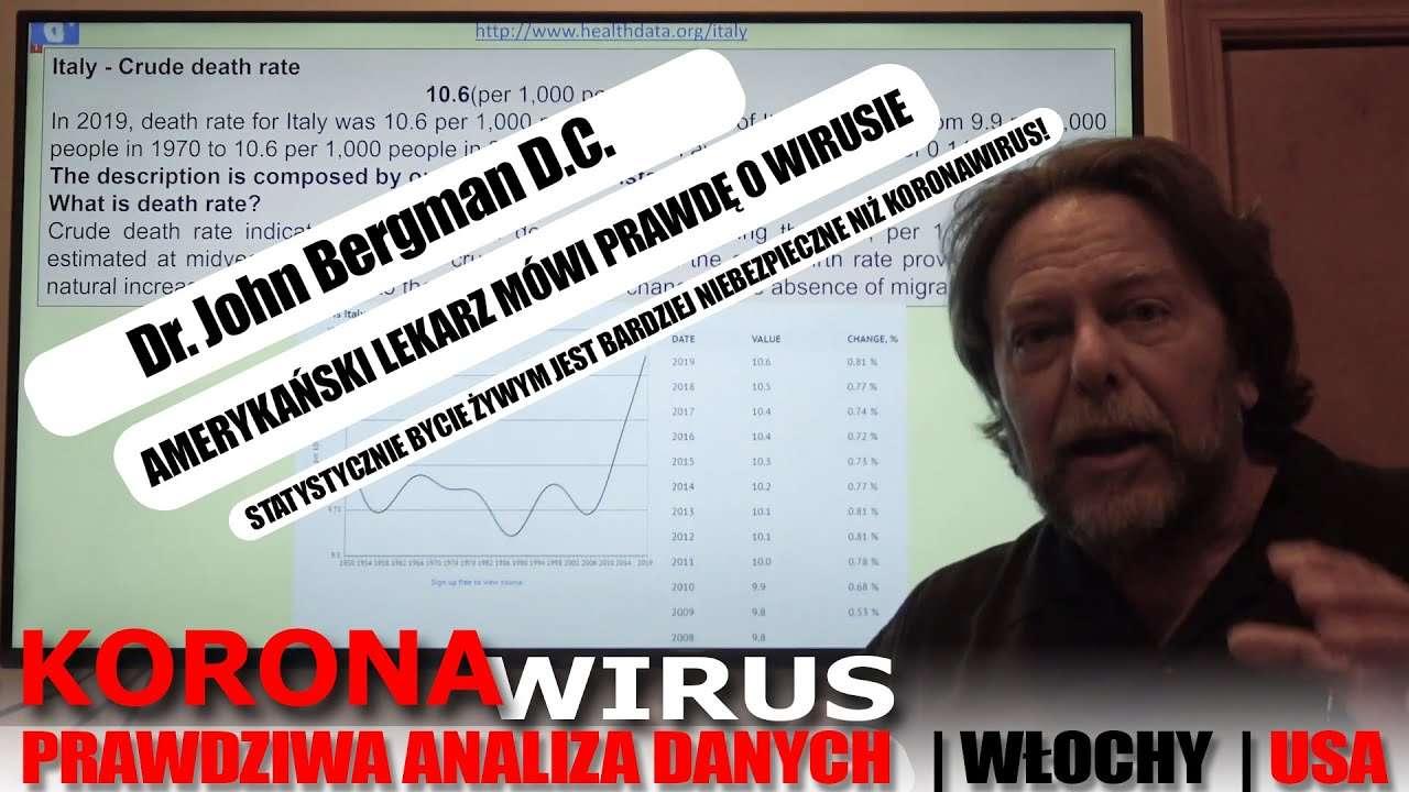 Dr. John Bergman - Chłodna Analiza Danych Statystycznych COVID 19 z Włoch i USA