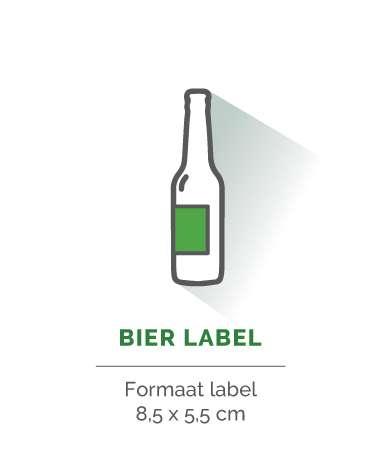 bier label rechthoek 5,5x8,5cm