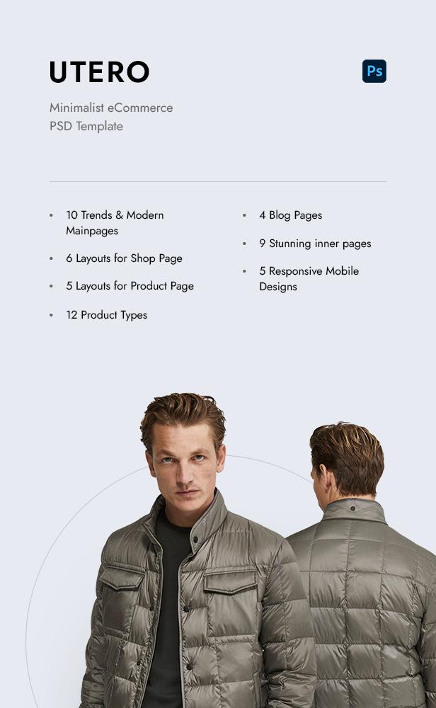Utero - Minimalist eCommerce PSD Template - 4
