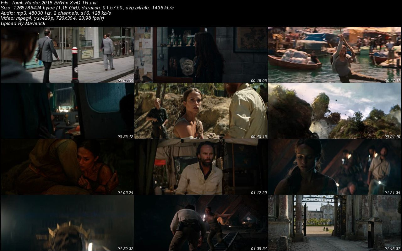 Tomb Raider - 2018 Türkçe Dublaj BRRip indir