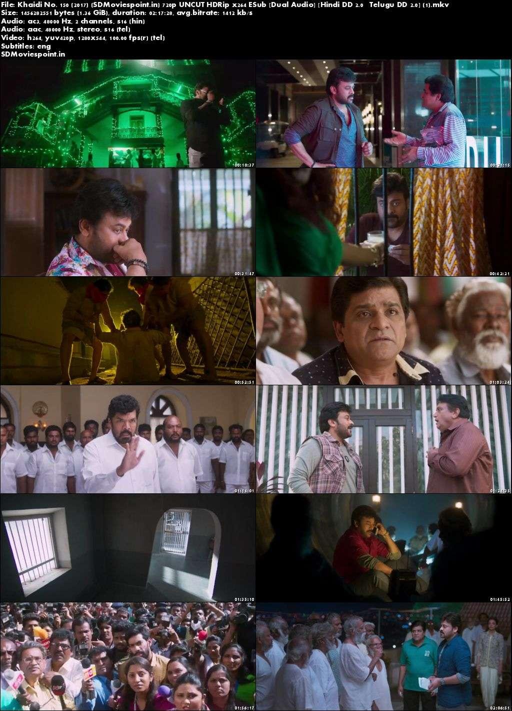 Screen Shots Khaidi No. 150 2017 Full HD Movie Download Hindi Dubbed Free