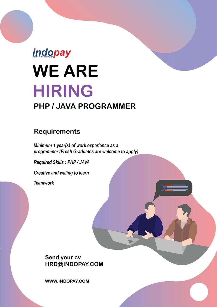Lowongan PHP / JAVA Programmer