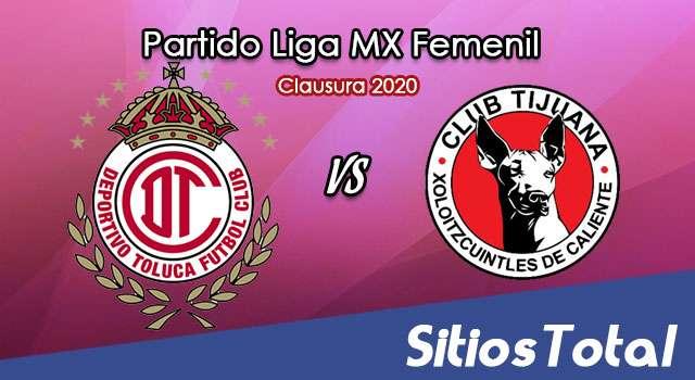 Ver Toluca vs Xolos Tijuana en Vivo – Liga MX Femenil – Clausura 2020 – Lunes 13 de Enero del 2020