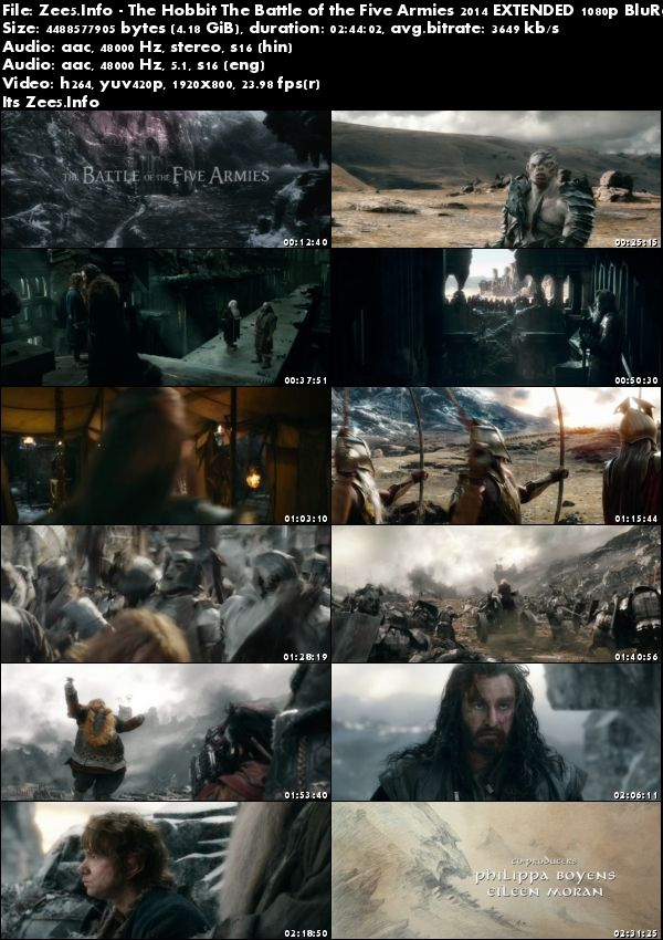 The Hobbit The Battle of the Five Armies 2014 1080p BRRip Hindi English