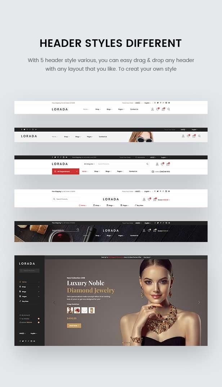 Lorada - Multipurpose eCommerce PSD Template - 4