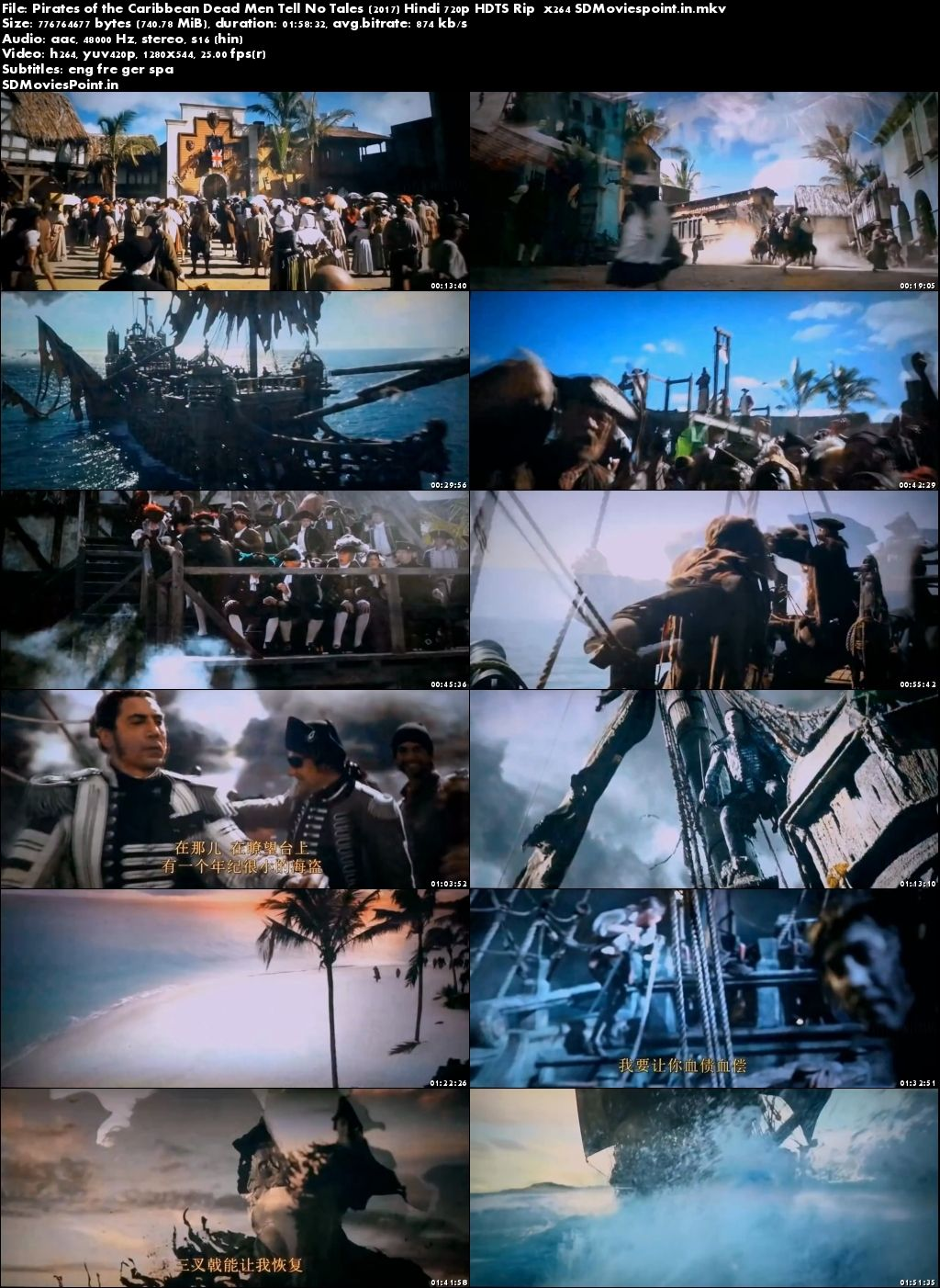 Screen Shot Pirates Of The Caribbean 5 Full Movie Download In Hindi