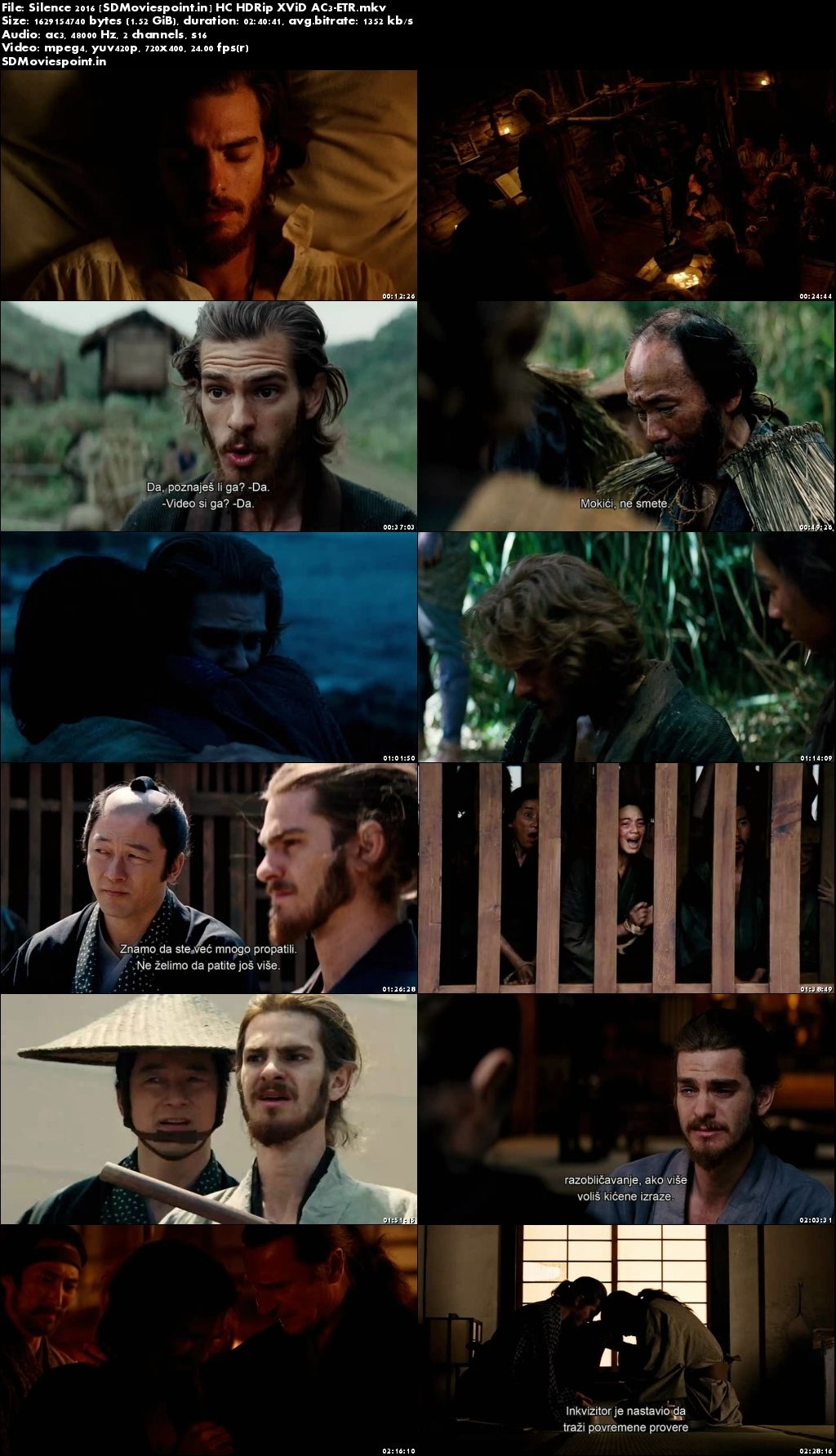 Screen Shots Silence (2016) Full HD Movie Download in English 720p