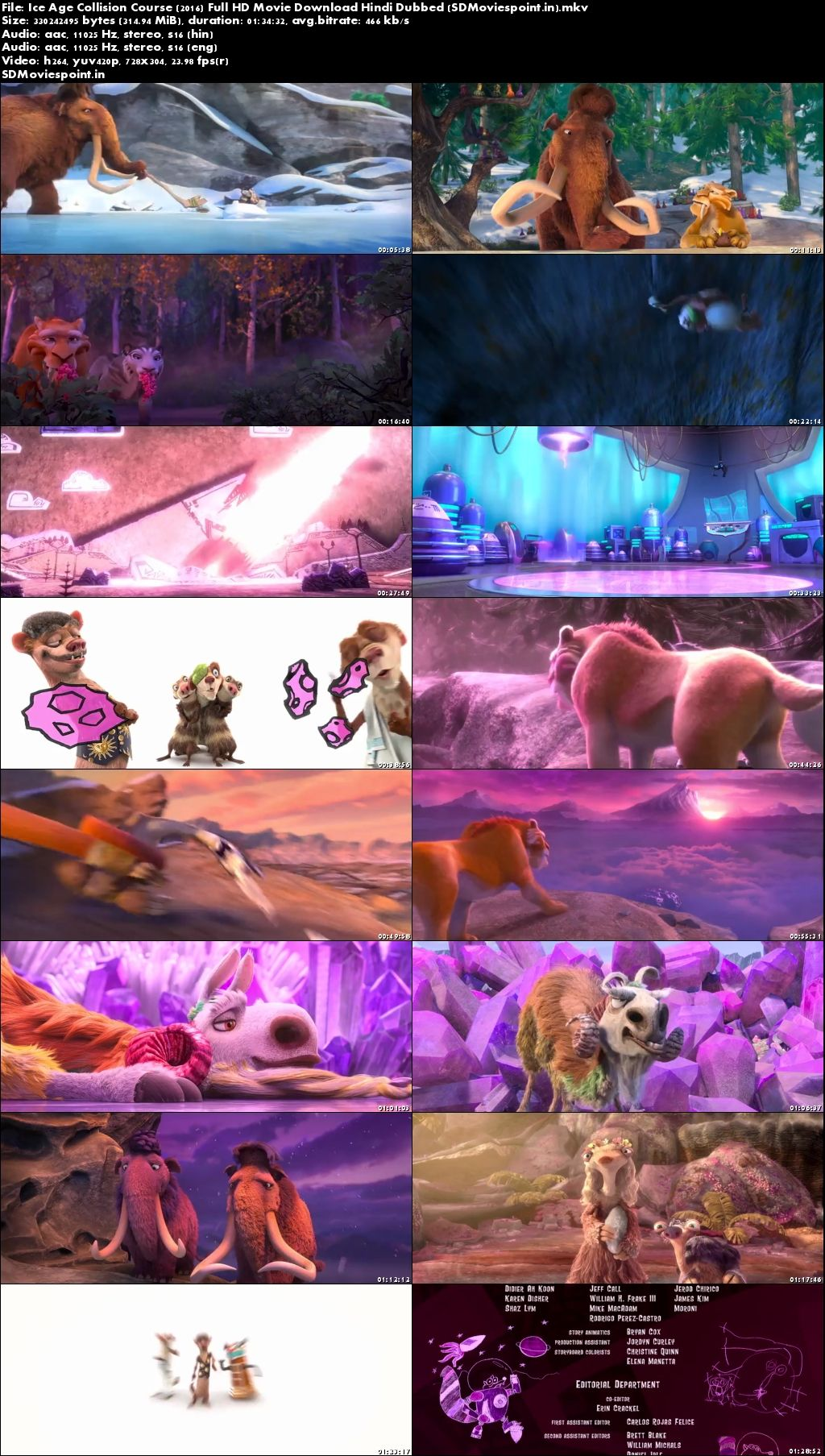 Screen Shot Ice Age Collision Course (2016) Full HD Movie Download Hindi Dubbed
