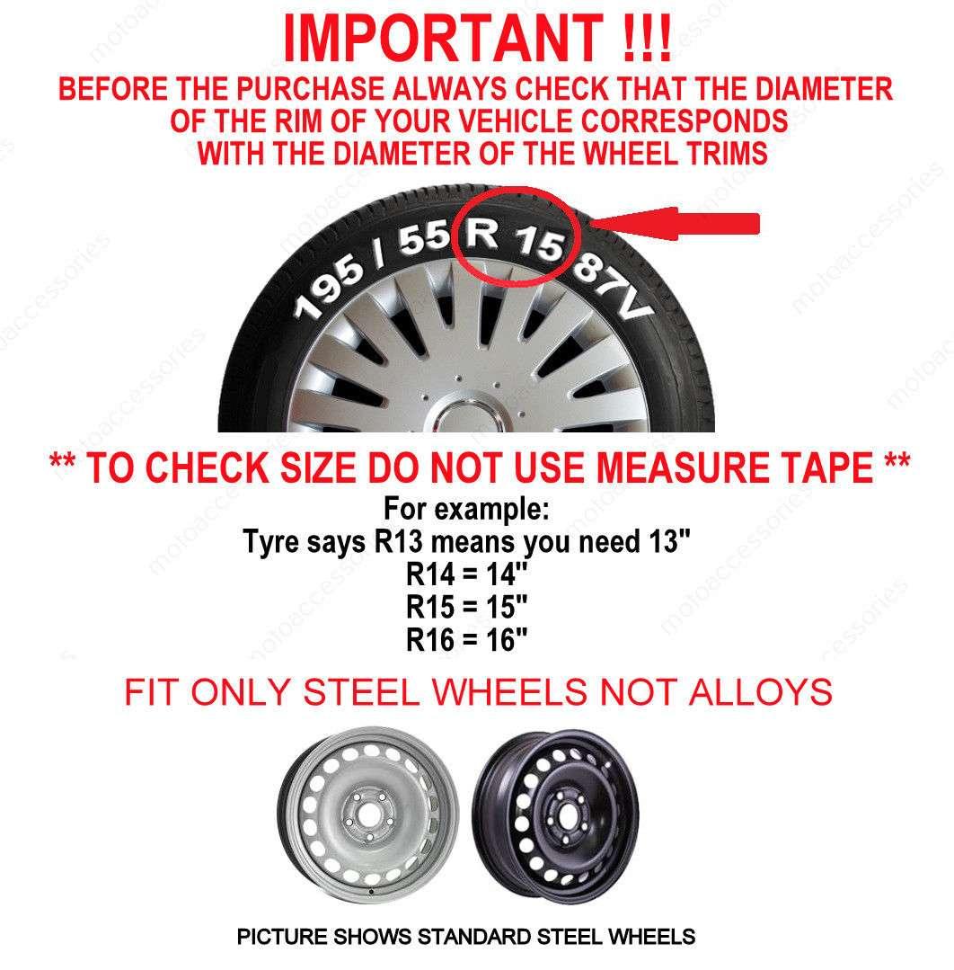satin black 4x16/'/' Wheel trims for Ford Focus  16/'/'