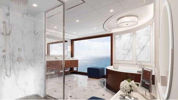 Oceania Cruises revela detalles de las Owner's Suites y la biblioteca del Vista
