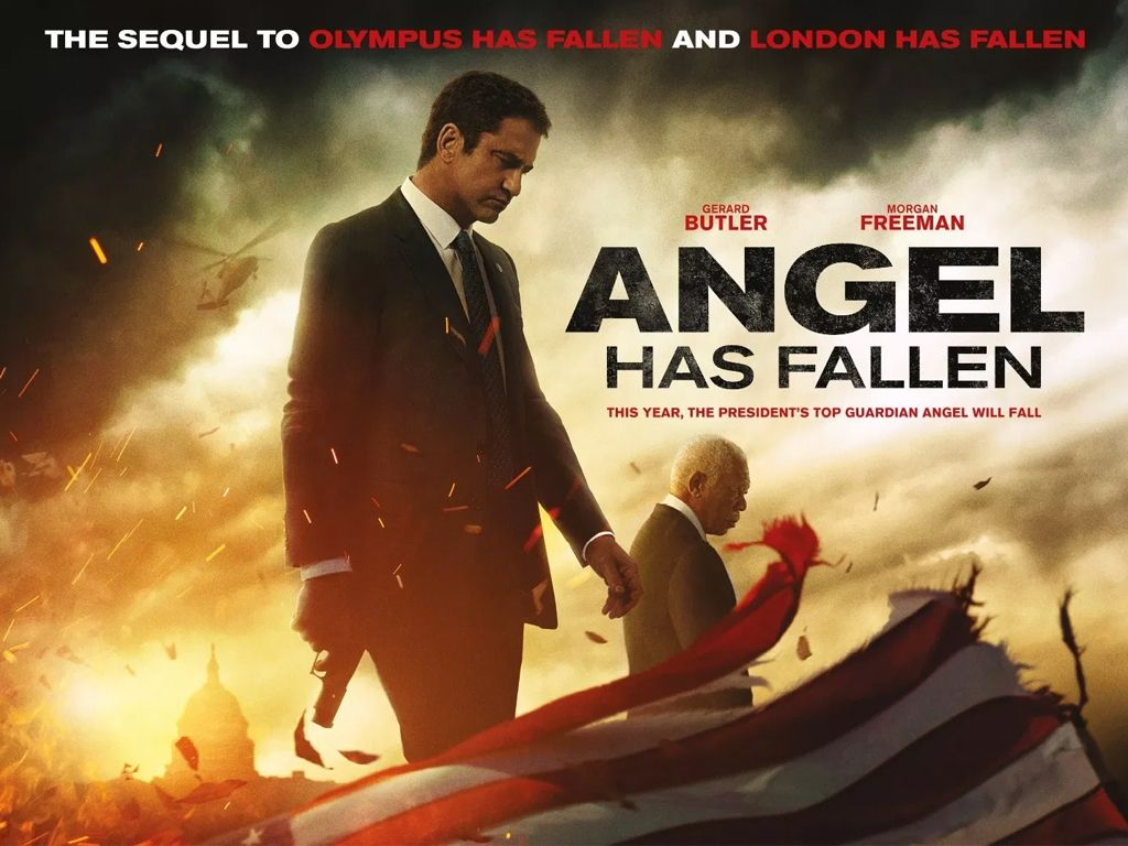 Ο Φύλακας Άγγελος Έπεσε (Angel Has Fallen) Quad Poster Πόστερ