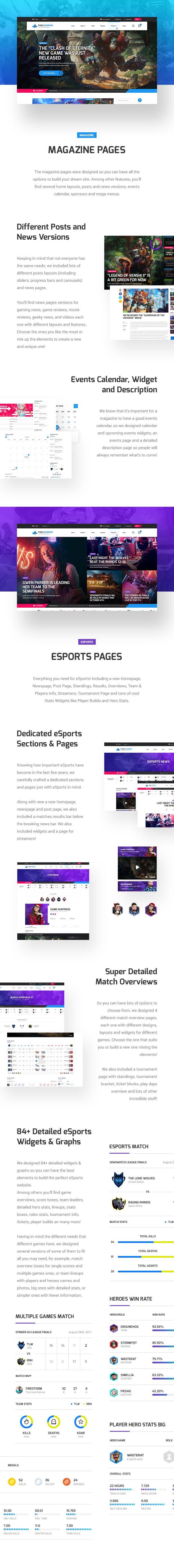 Pixel Diamond HTML - eSports & Gaming Magazine & Community - 11