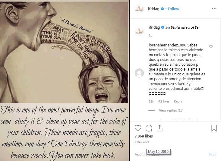 Alejandra Guzmán Es Mala Madre Según Su Hija Frida Sofía Diario