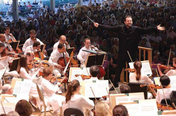 [Andris Nelsons leads the BSO in the Shed]