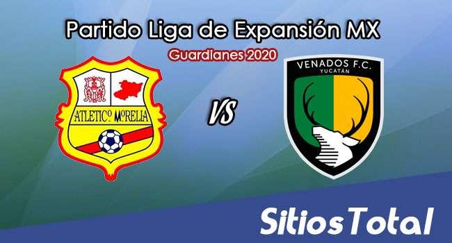 Atlético Morelia vs Venados FC en Vivo – Liga de Expansión MX – Guardianes 2020 – Miércoles 25 de Noviembre del 2020