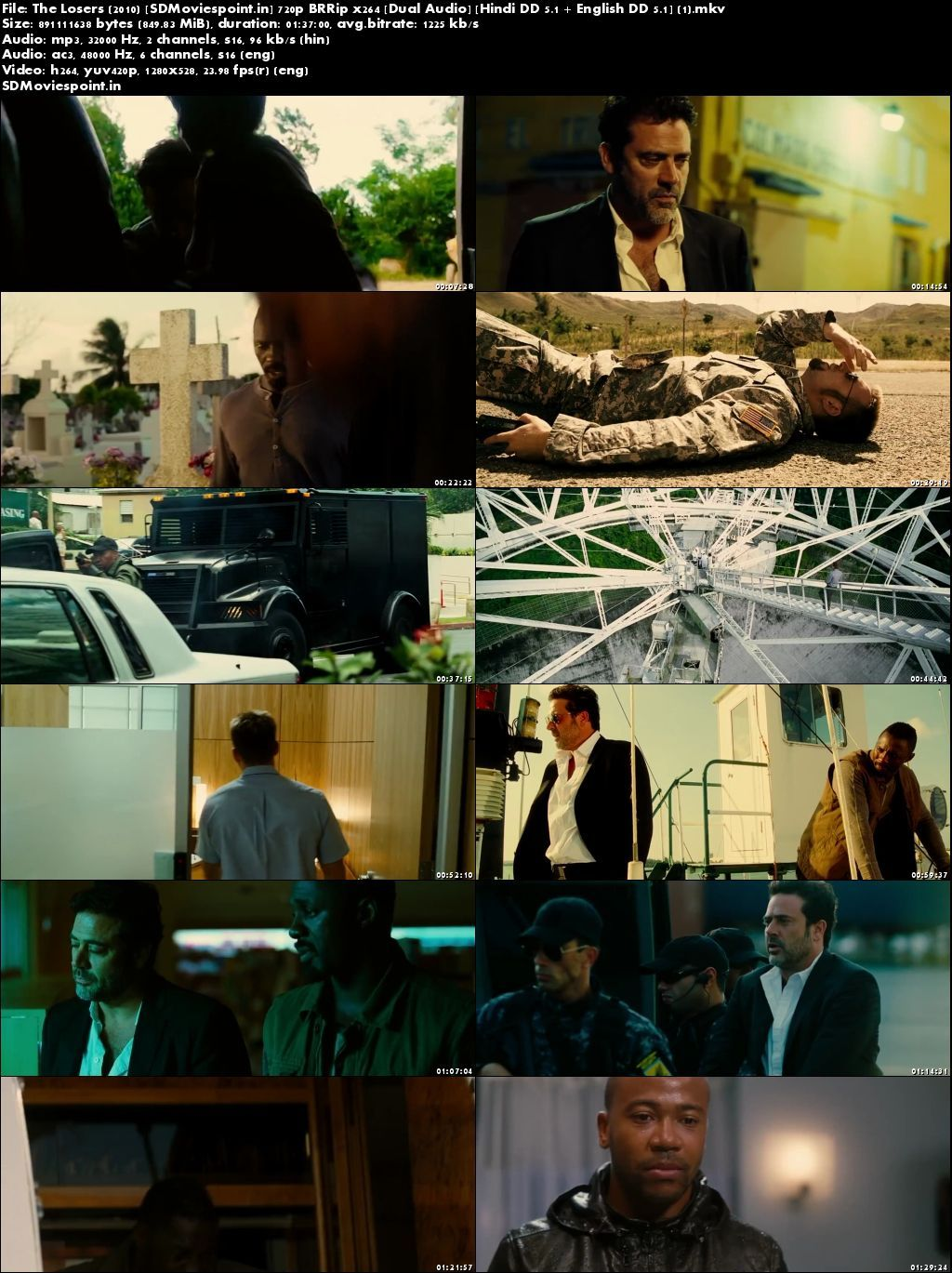 Screen Shots The Losers 2010 Full Movie Download Free In Dual Audio Hindi
