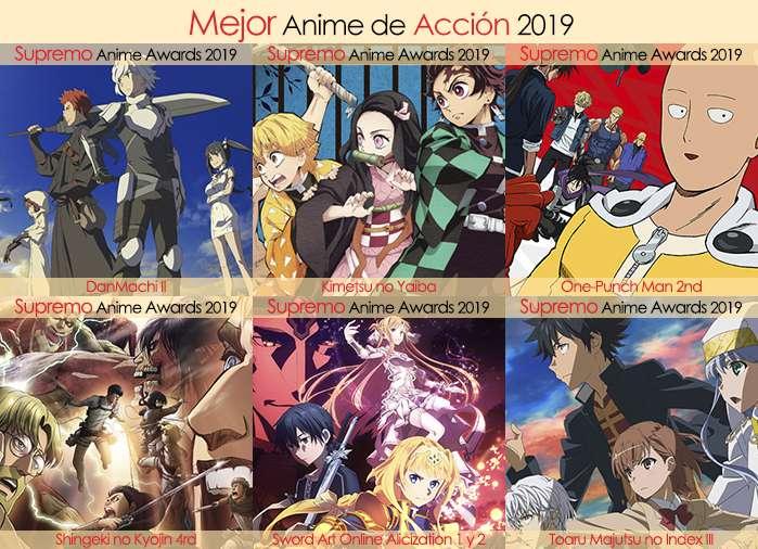 Final X Categorias Nominados a Mejor Anime de Acción 2019