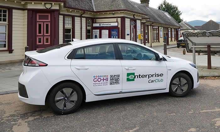 Enterprise Car Club duplica su flota en Highlands & Islands, Escocia