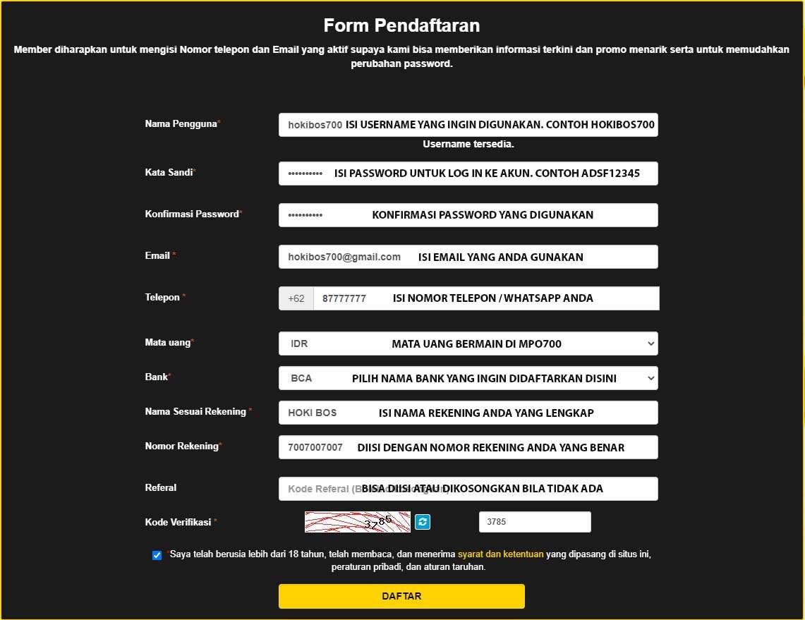 MPO700 : Panduan Cara Daftar Akun Judi Online