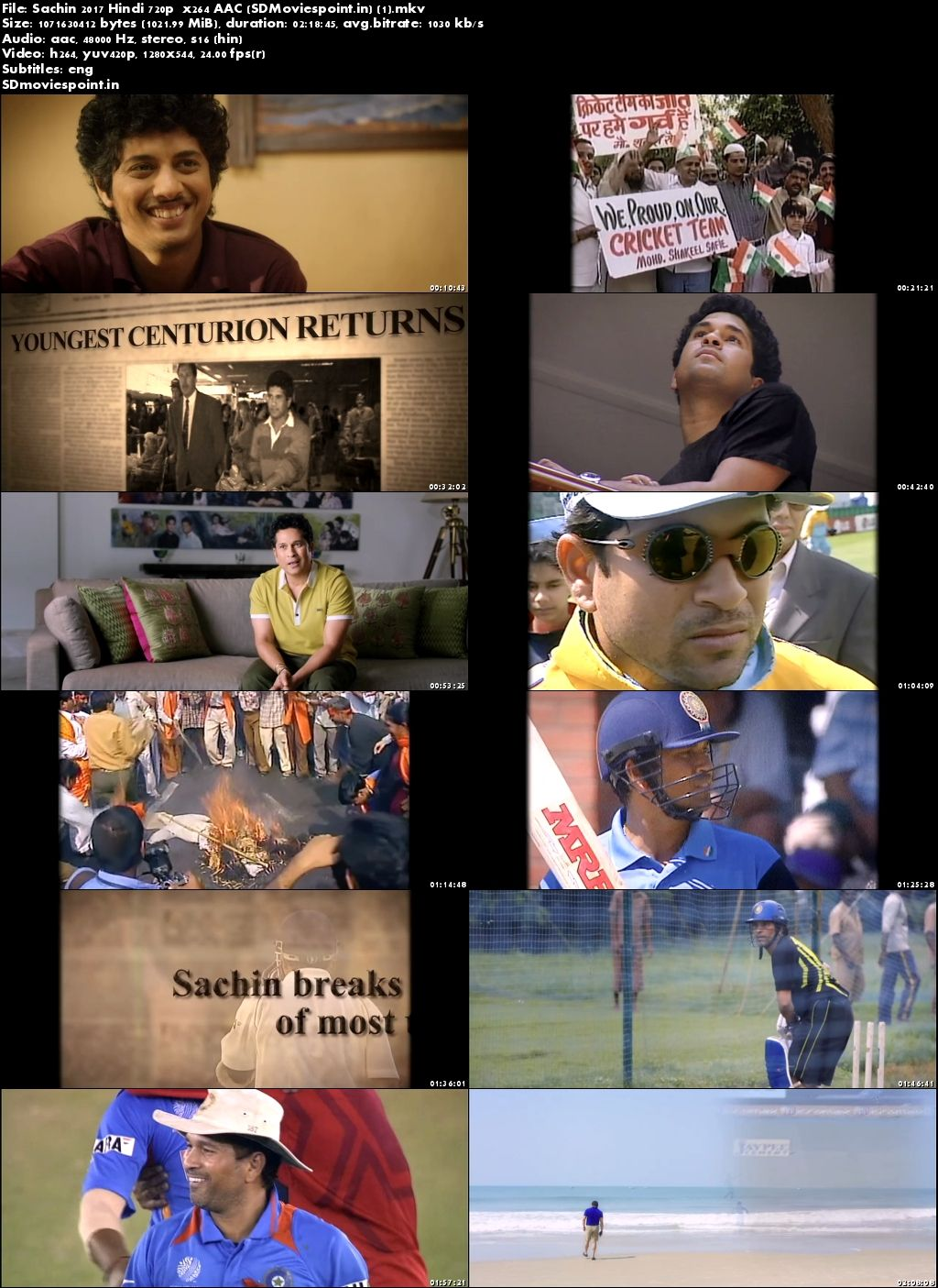 Poster Sachin (2017) Full Hindi Movie Download in HD 720p