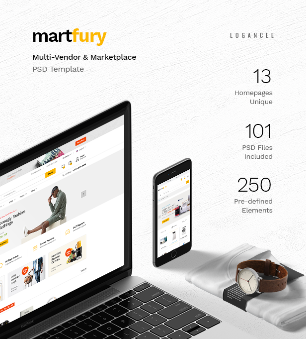 MartFury   Multi-Vendor & Marketplace eCommerce PSD Template - 13