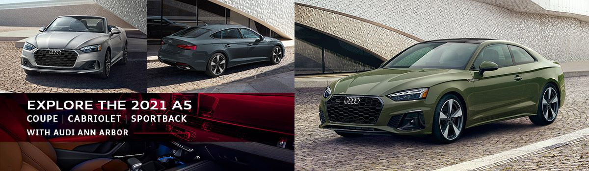 2021 Audi A5 Coupe, Cabriolet, and Sportback at Audi Ann Arbor