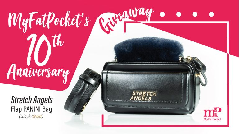 MyFatPocket's 10th Anniversary Giveaway - Stretch Angels Flap PANINI Bag in Black
