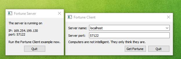 Running Qt Example client/server not working   Qt Forum