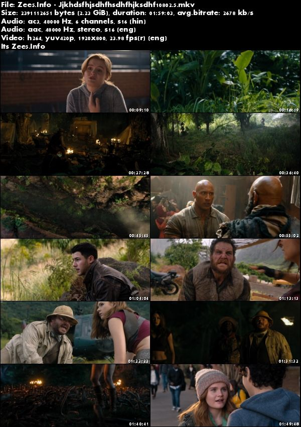 Jumanji Welcome to the Jungle 2017 1080p Dual Audio Hindi English 2.3GB