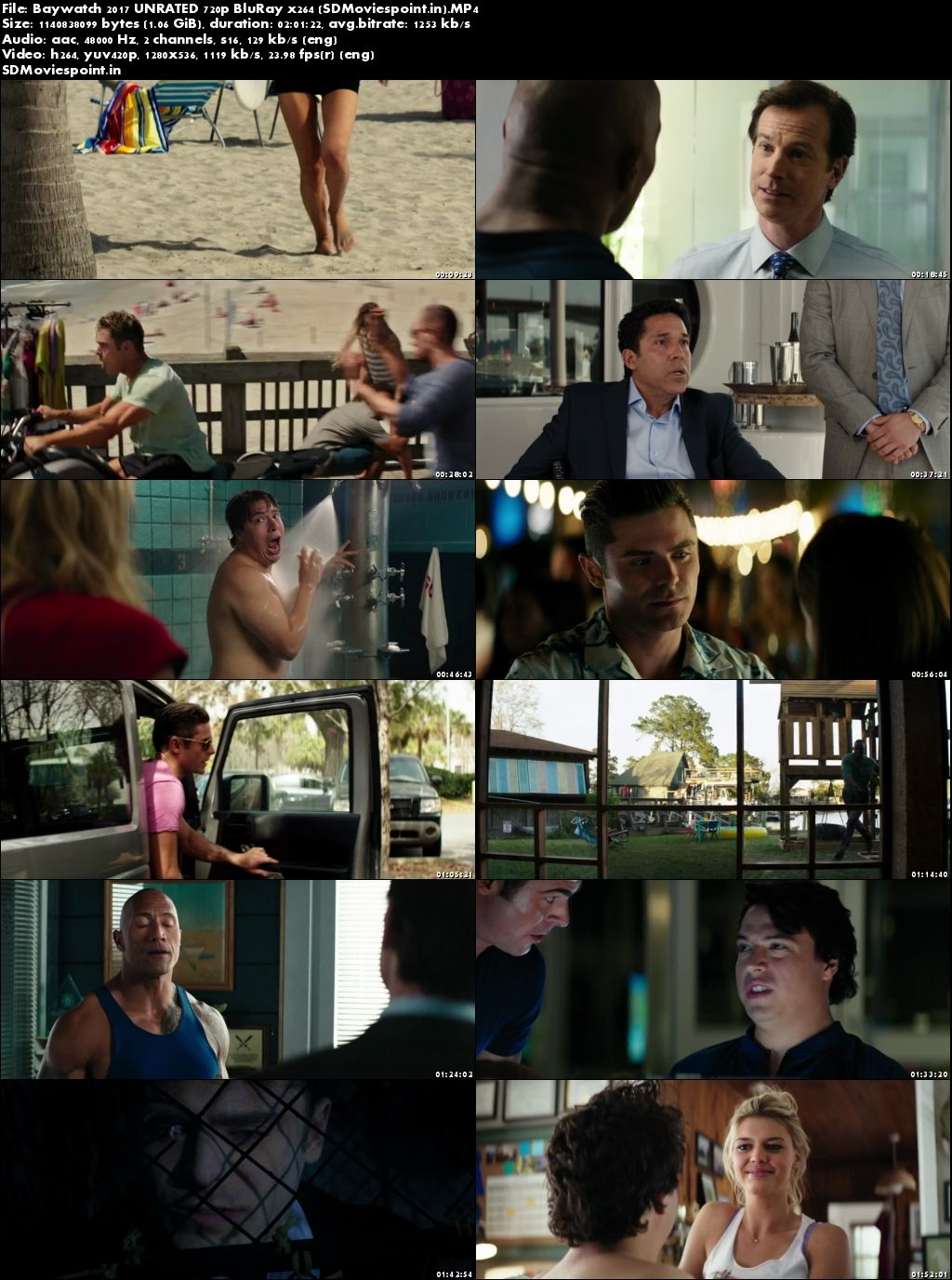Screen Shots Download Baywatch 2017 Movie Hindi Dual Audio Free 720p BluRay