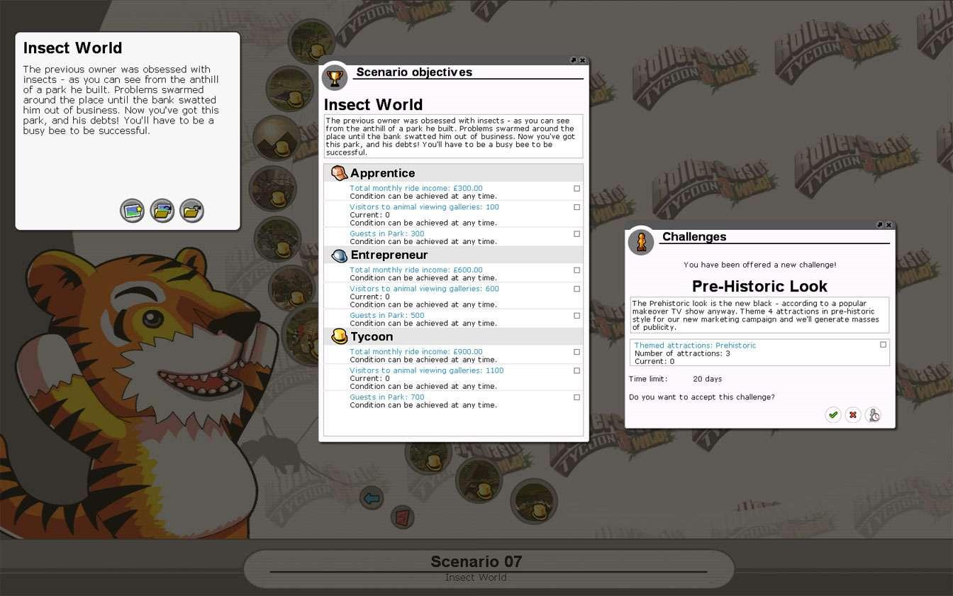 Scenario Information Image for FlightToAtlantis.net: RCT3 FAQ: Campaign Scenario Directory Specifics: Insect World
