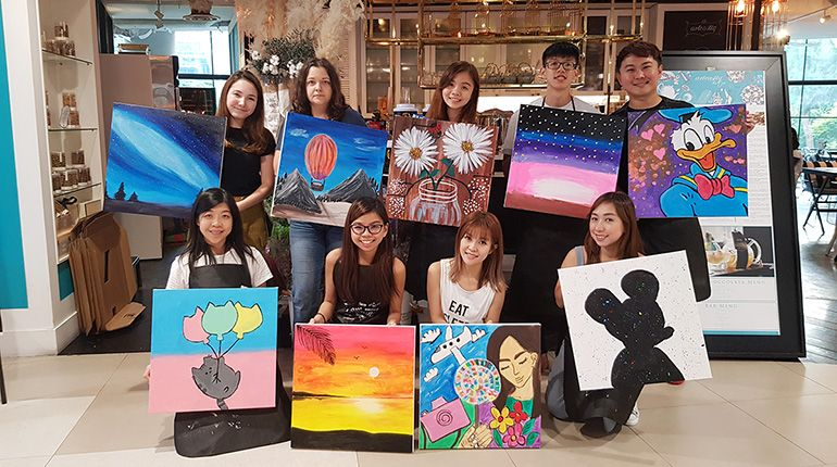 MyFatPocket's Team Bonding: Our Art Jamming Experience at Arteastiq
