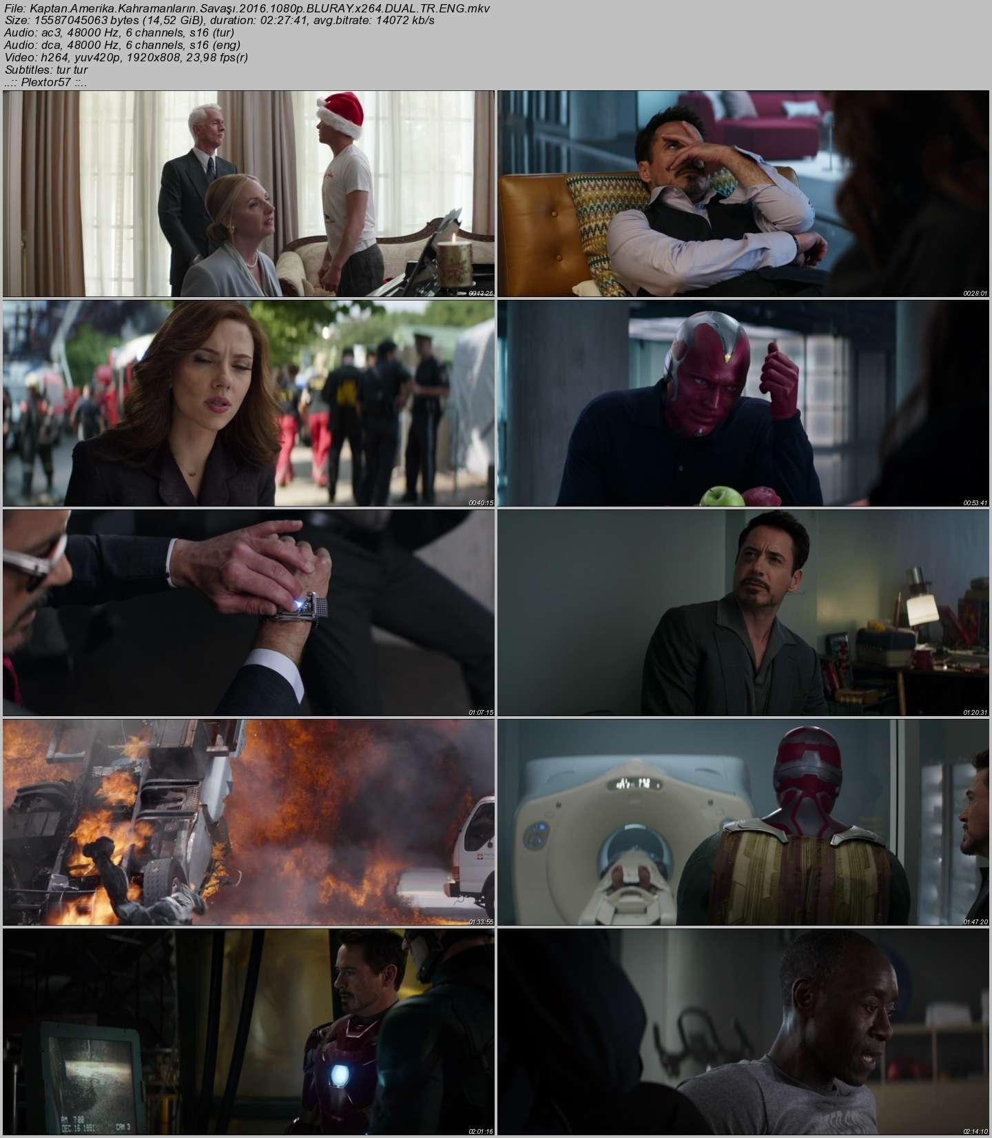 Kaptan Amerika: Kahramanların Savaşı 2016 - Türkçe Dublaj - Tek Link