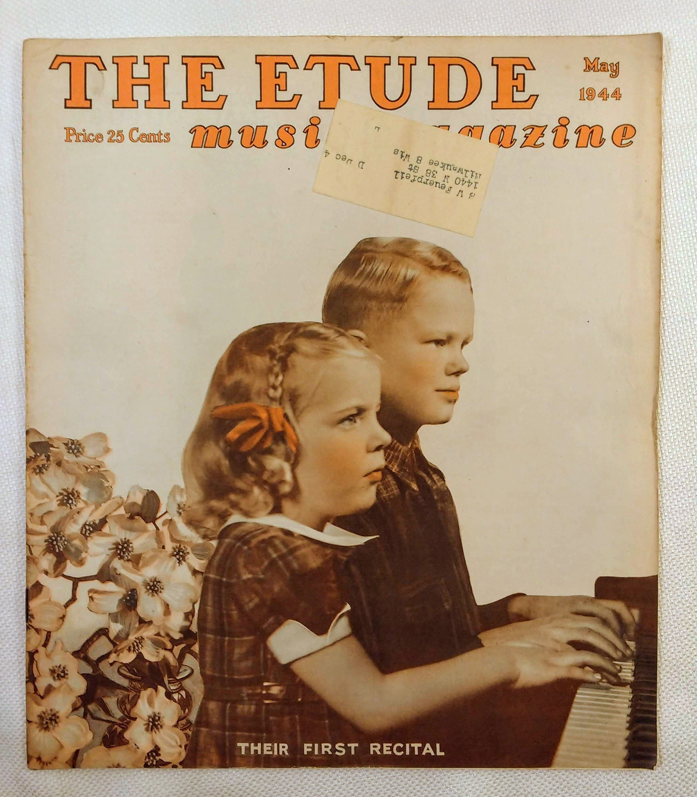 Image for The Etude Music Magazine: Volume LXII, No. 5; May, 1944