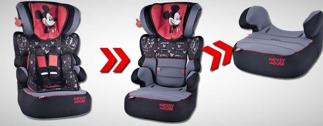 DISNEY Mickey Mouse NANIA BEFIX SP Kinderautositz Gruppe 2//3 15-36KG Modell 2019