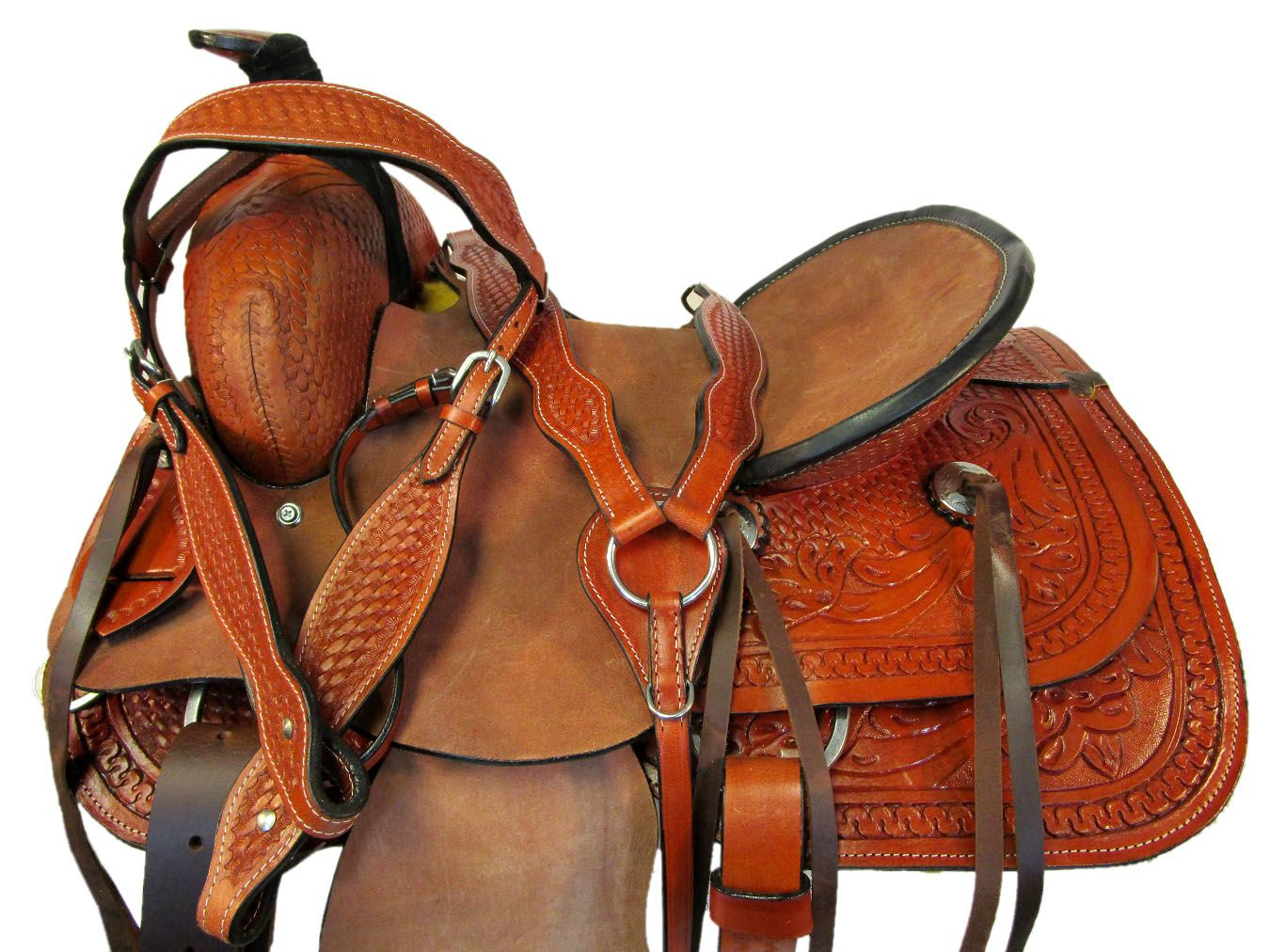 COWBOY WESTERN ROPING SADDLE 15 16 17 TRAIL HORSE ROPER