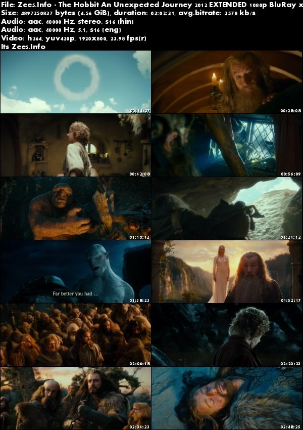 The Hobbit An Unexpected Journey 2012 1080p BRRip Hindi English Download