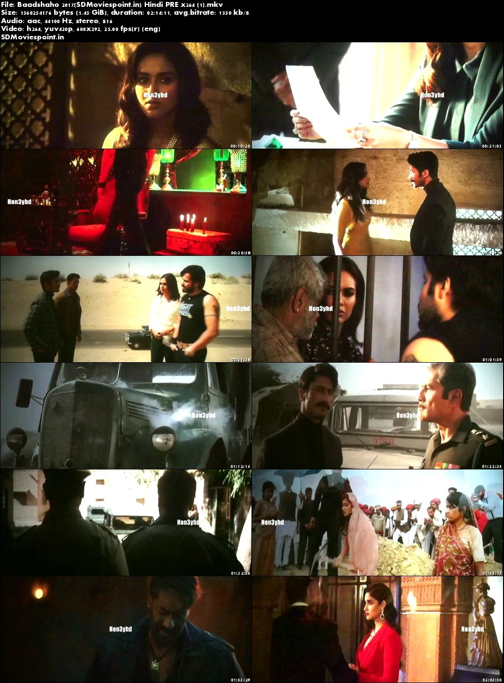 Screen Shots Baadshaho (2017) Full Hindi Movie Download Free HD Pre