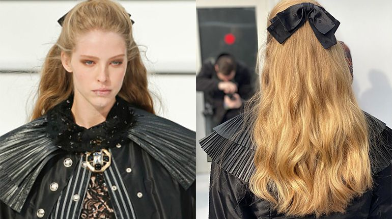 Hair Inspiration - The Chanel Romantic Half-Up Hairstyle
