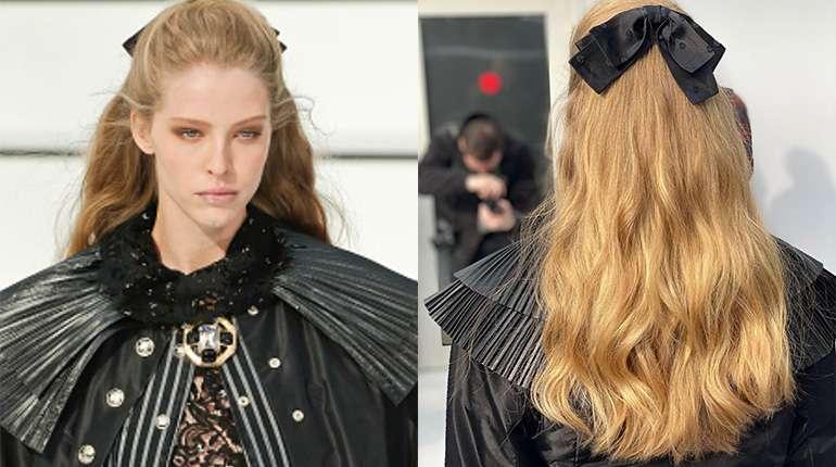 Chanel Half-Up Hair Hairstyle Paris Fashion Week 2020