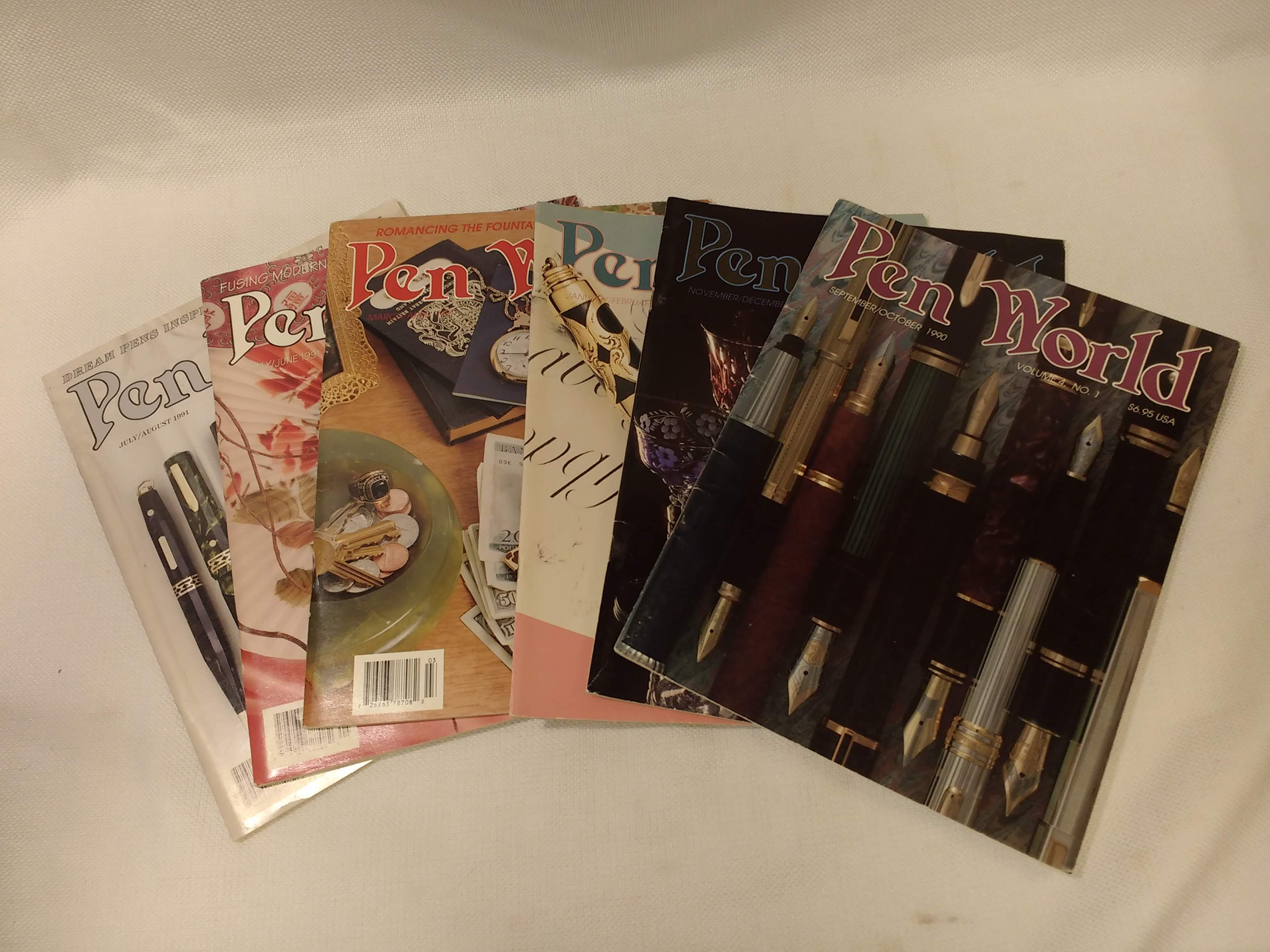 Pen World Magazine: Vol. Four, complete in six issues (Sept. 1990 - Aug. 1991), Olson, Nancy R. [managing editor]