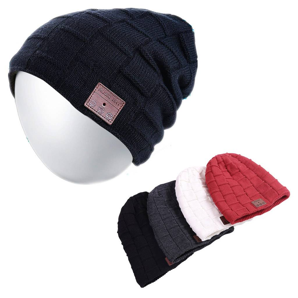 Bluetooth Music Warm Beanie Hat Wireless Smart Cap Headset Headphone Speaker USA
