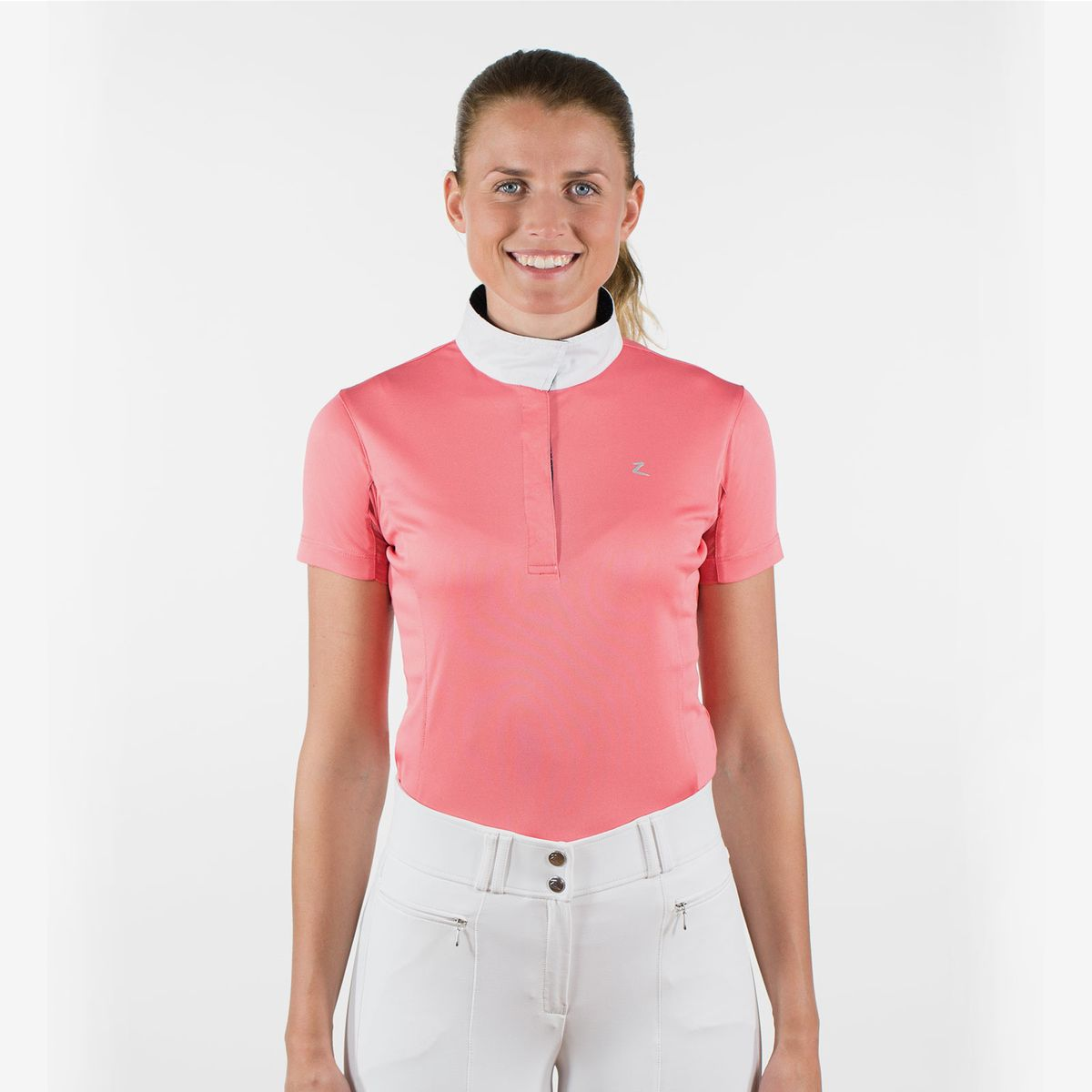 Horze-Blaire-Women-039-s-Short-Sleeve-Functional-Show-Shirt-with-UV-Protection thumbnail 37