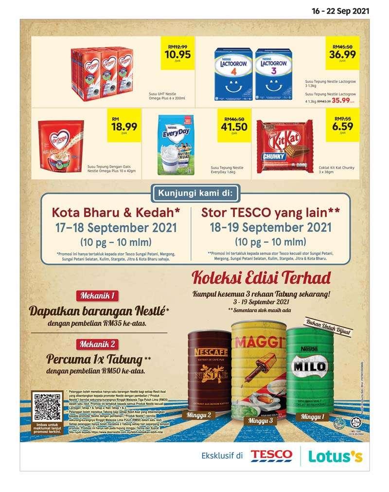 Tesco Catalogue(16 September 2021 - 29 September 2021)