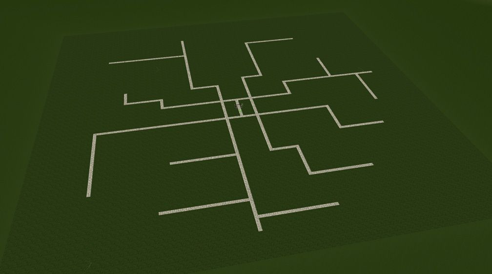 Screenshot Displaying Star Paths Layout Combined With Midway Paths Layout, FAQ: Effective Park Design, Page 1