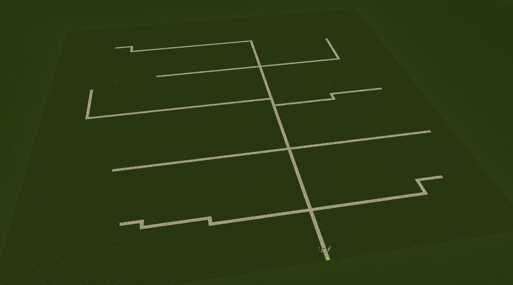 Screenshot Displaying Midway Paths Arrangement, FAQ: Effective Park Design, Page 1